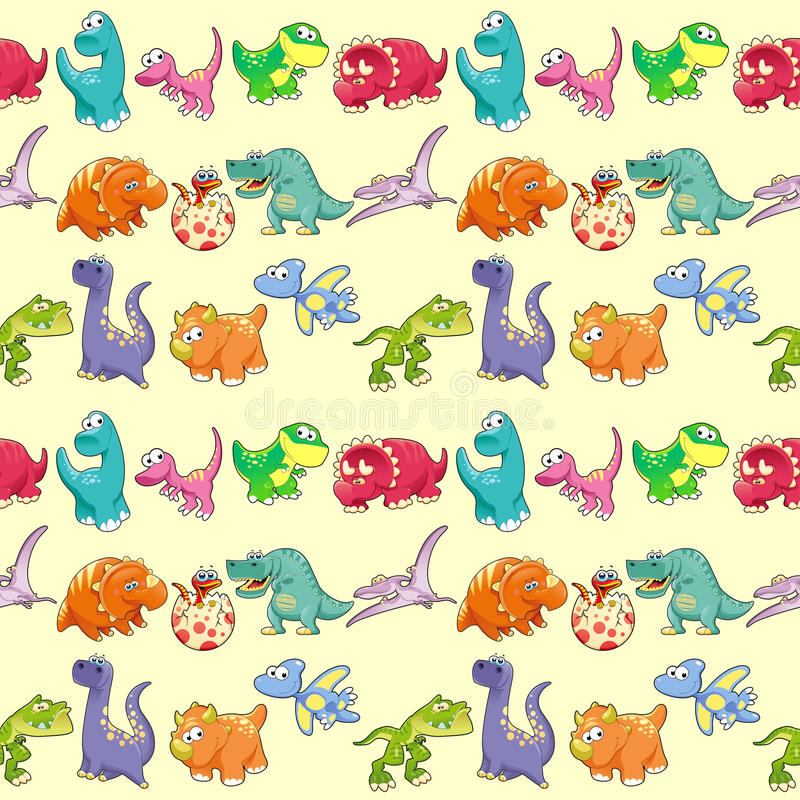 小组滑稽的恐龙有背景 皇族释放例证