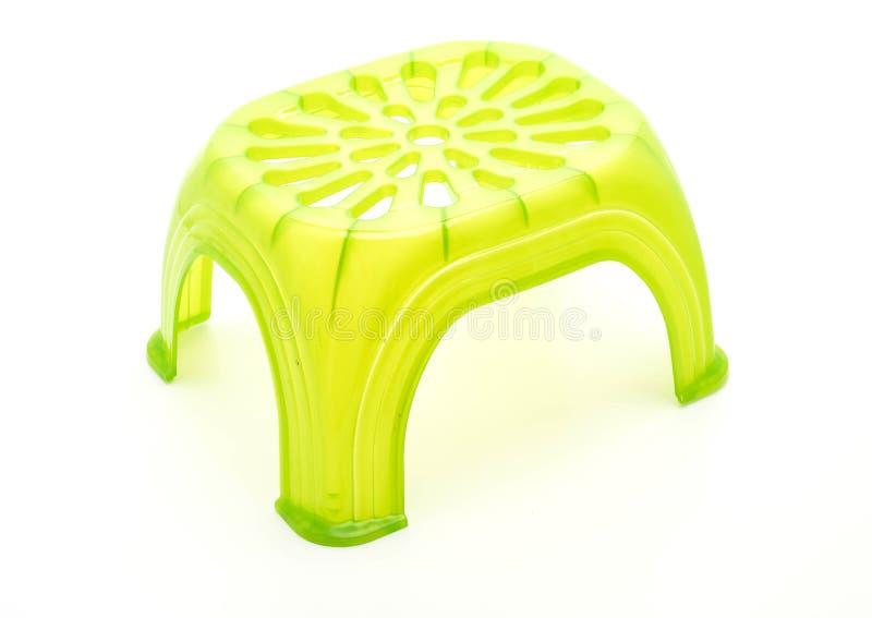小绿色塑料凳子 免版税图库摄影