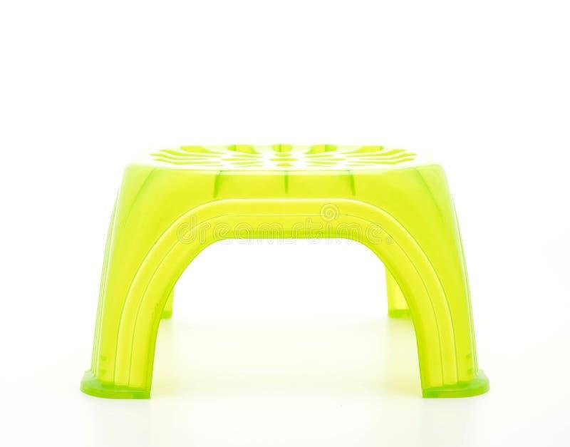 小绿色塑料凳子 库存图片