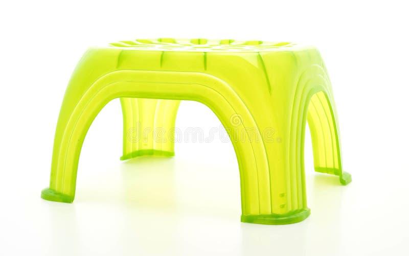 小绿色塑料凳子 免版税库存照片