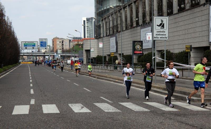 米兰市马拉松 库存照片