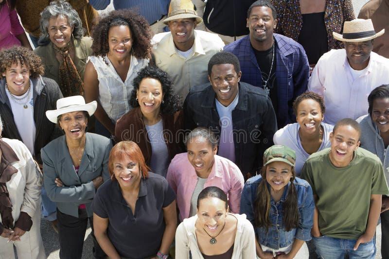 小组非裔美国人的人民 库存照片