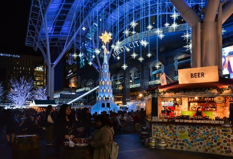 小Hakata市打开,福冈,日本 免版税库存照片
