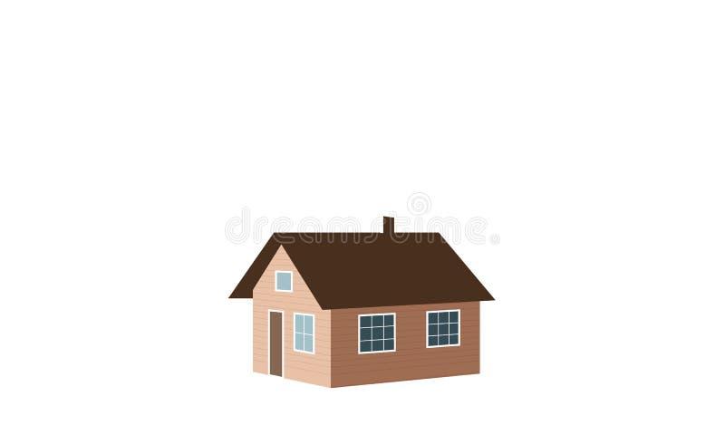 小housesmoke 也corel凹道例证向量 皇族释放例证