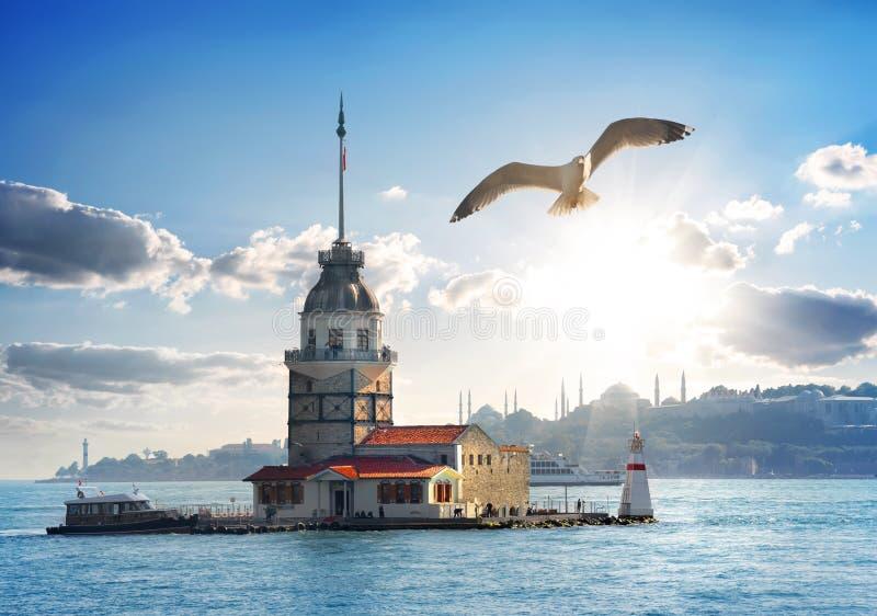 少女塔在土耳其 免版税库存图片