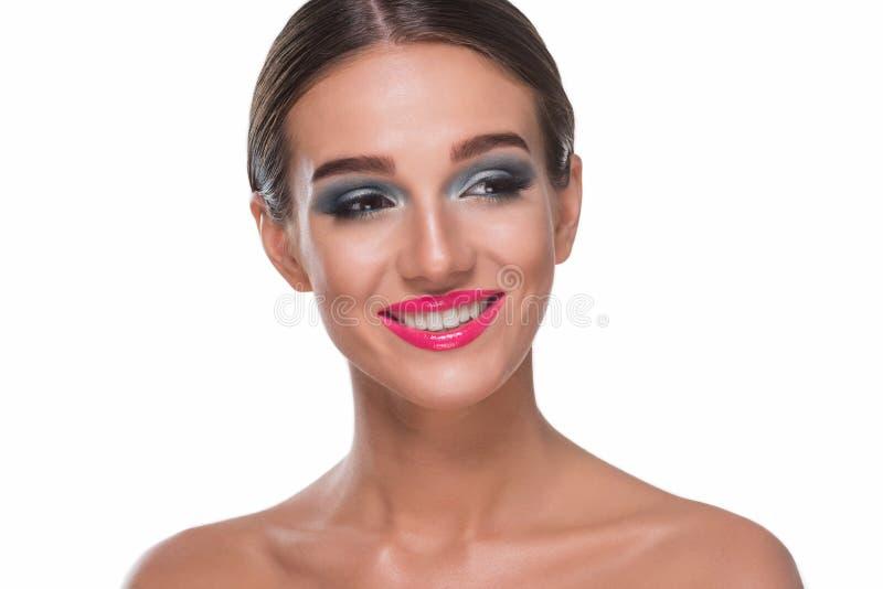 少女有吸引力的微笑  免版税库存照片