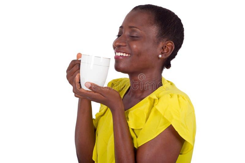 少女画象有杯子的 免版税图库摄影