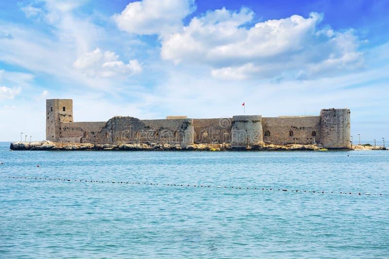 少女` s城堡kizkalesi mersin,土耳其 免版税库存照片