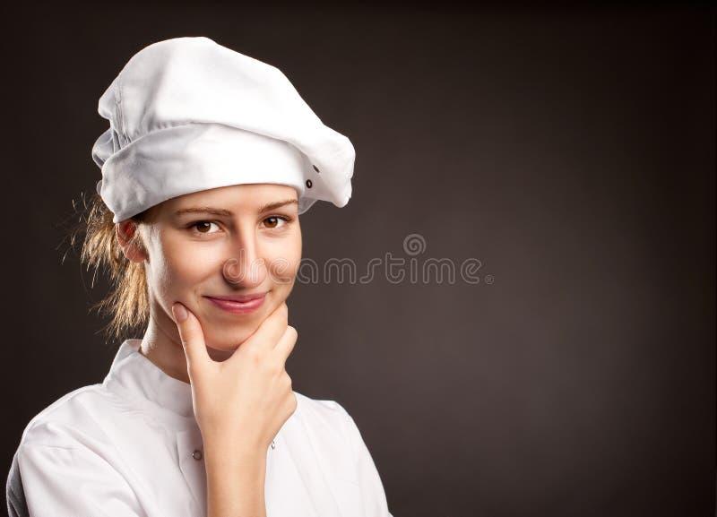 少妇厨师 免版税库存图片
