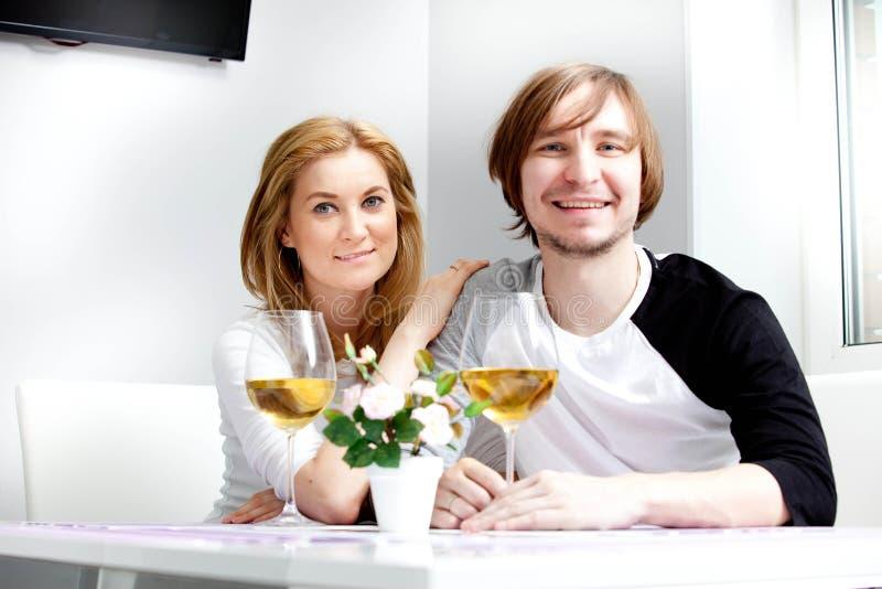 少妇和她的丈夫 免版税库存图片