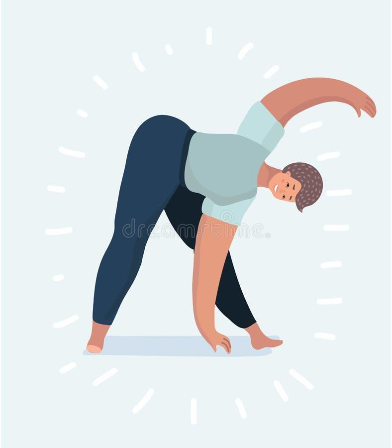 少妇或女孩实践瑜伽姿势 皇族释放例证