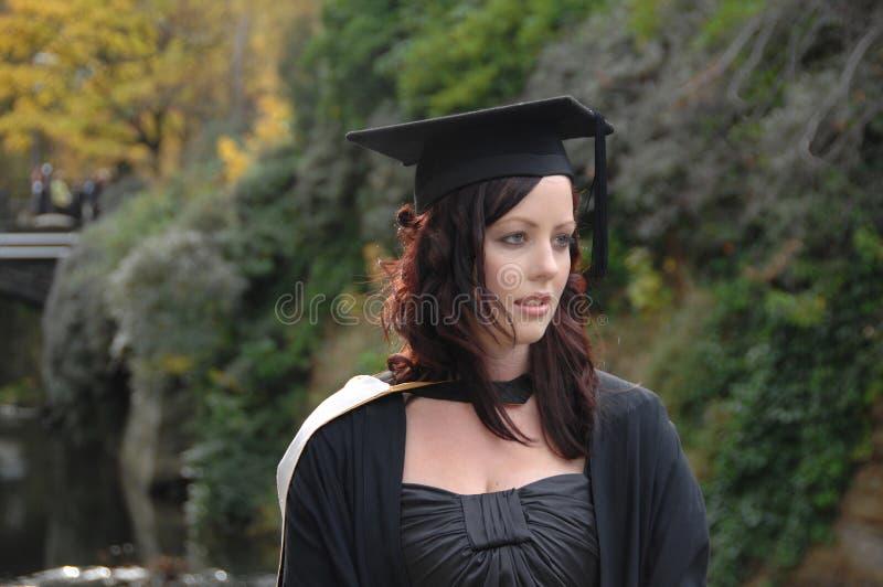 少妇毕业生 库存图片