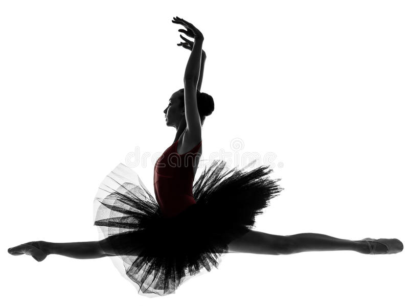 少妇芭蕾舞女演员跳芭蕾舞者跳舞 库存照片