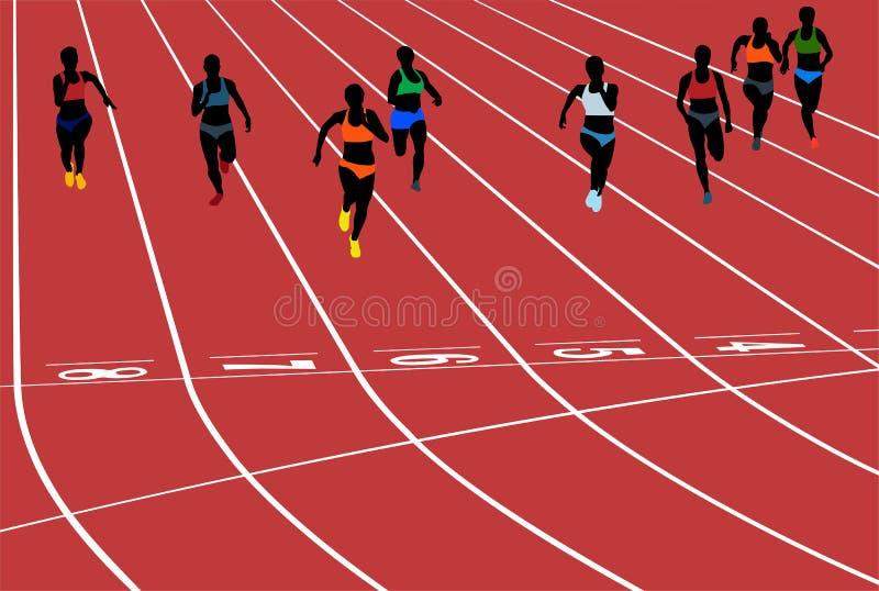 少妇赛跑者赛跑 皇族释放例证
