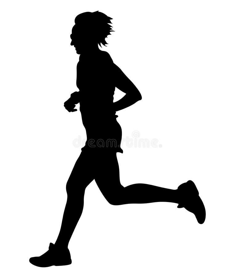 少妇赛跑者 向量例证