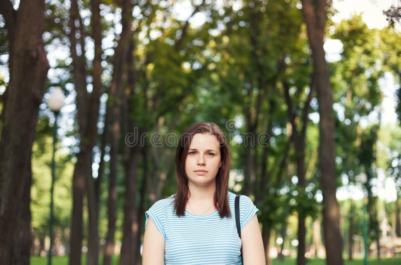 少妇画象自然背景的 库存图片