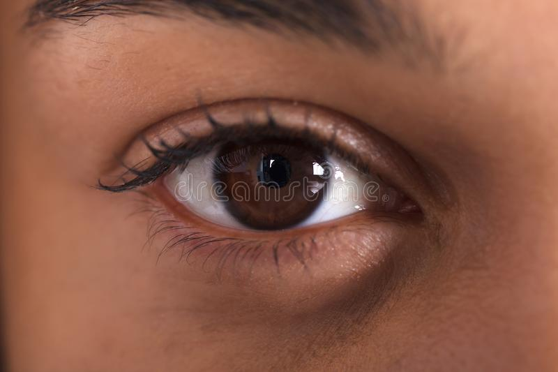 少妇` s眼睛 图库摄影