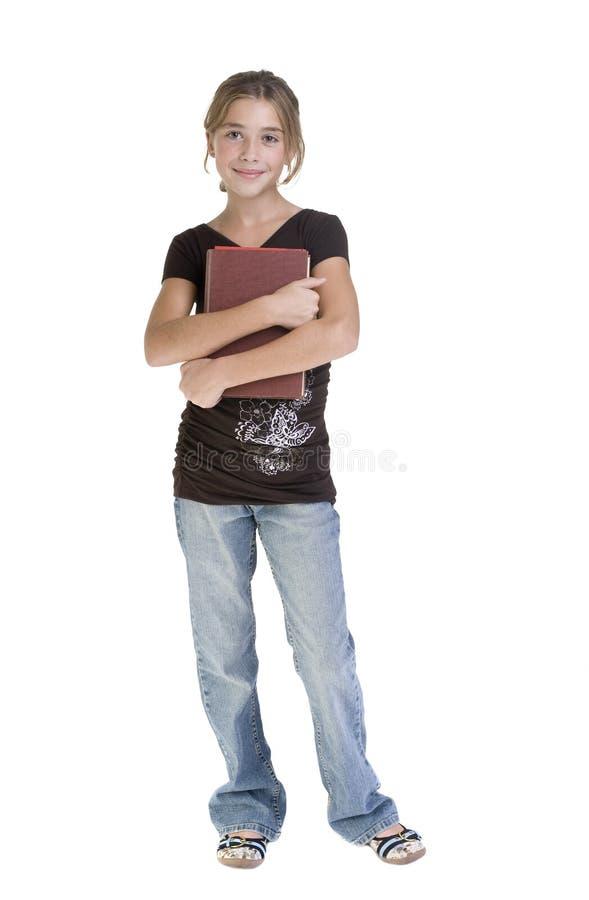 少年女孩的学校 免版税库存图片