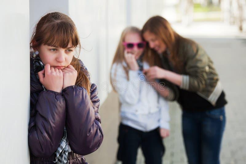 少年消沉的女孩 图库摄影