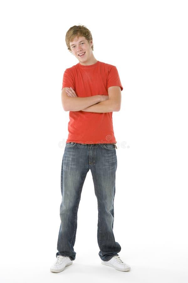 少年男孩的纵向 库存图片