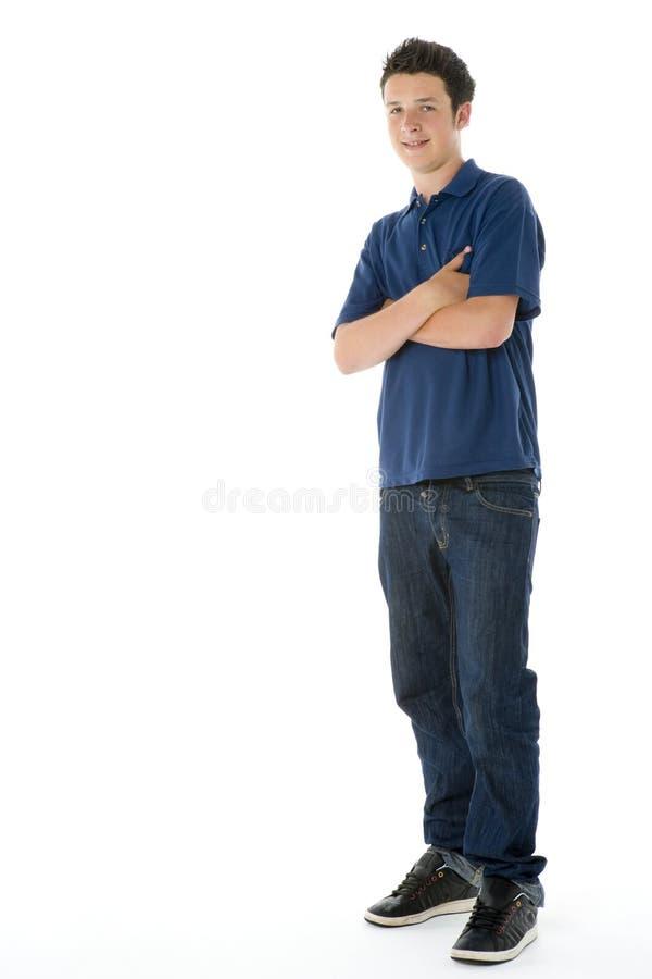 少年男孩的纵向 免版税图库摄影