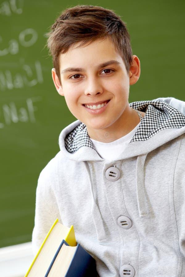 少年的学生 免版税库存图片