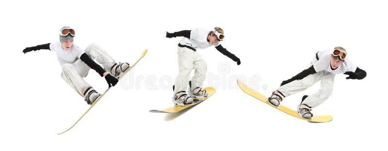 少年的挡雪板 免版税图库摄影