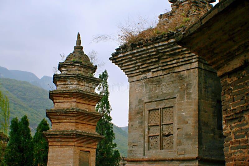 少林寺在松山 免版税库存图片