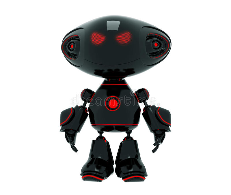 少许动画片恼怒的机器人 皇族释放例证