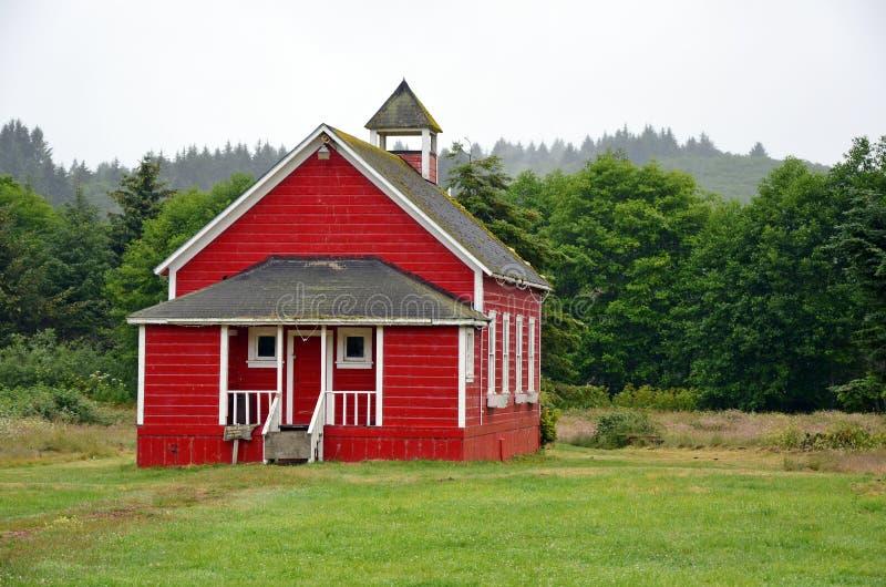 少许红色校舍 库存图片
