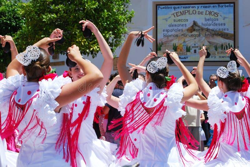 少年佛拉明柯舞曲舞蹈家,马尔韦利亚,西班牙。 免版税库存图片