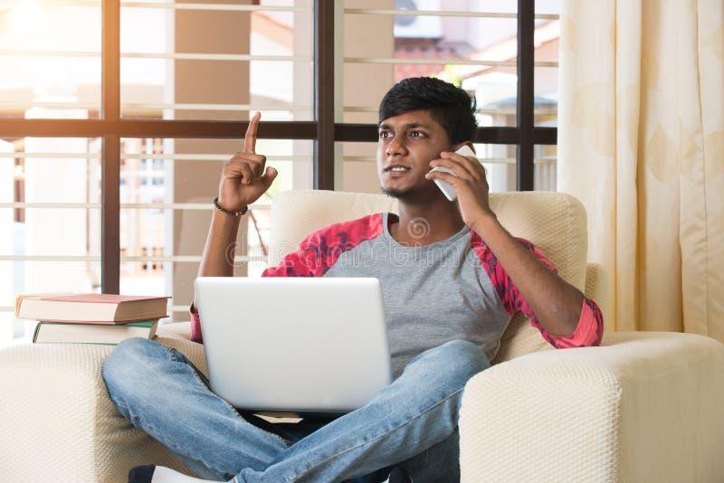 少年印地安男性 免版税库存照片