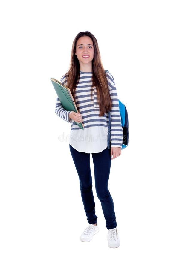 少年学生女孩 库存图片