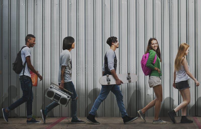 少年生活方式偶然文化青年样式概念 图库摄影