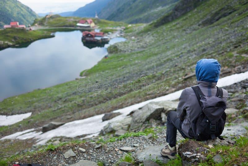 少年远足者 免版税图库摄影