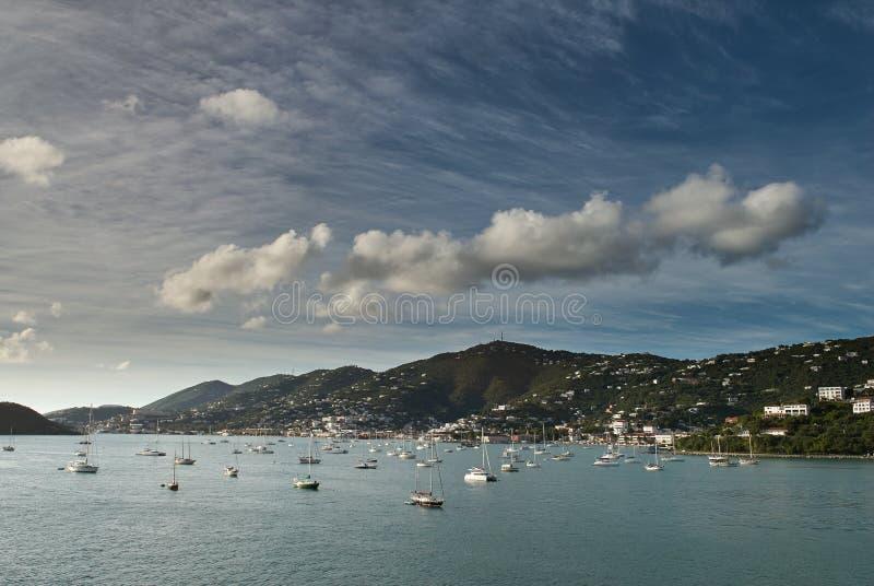 维尔京群岛海湾全景  免版税库存图片