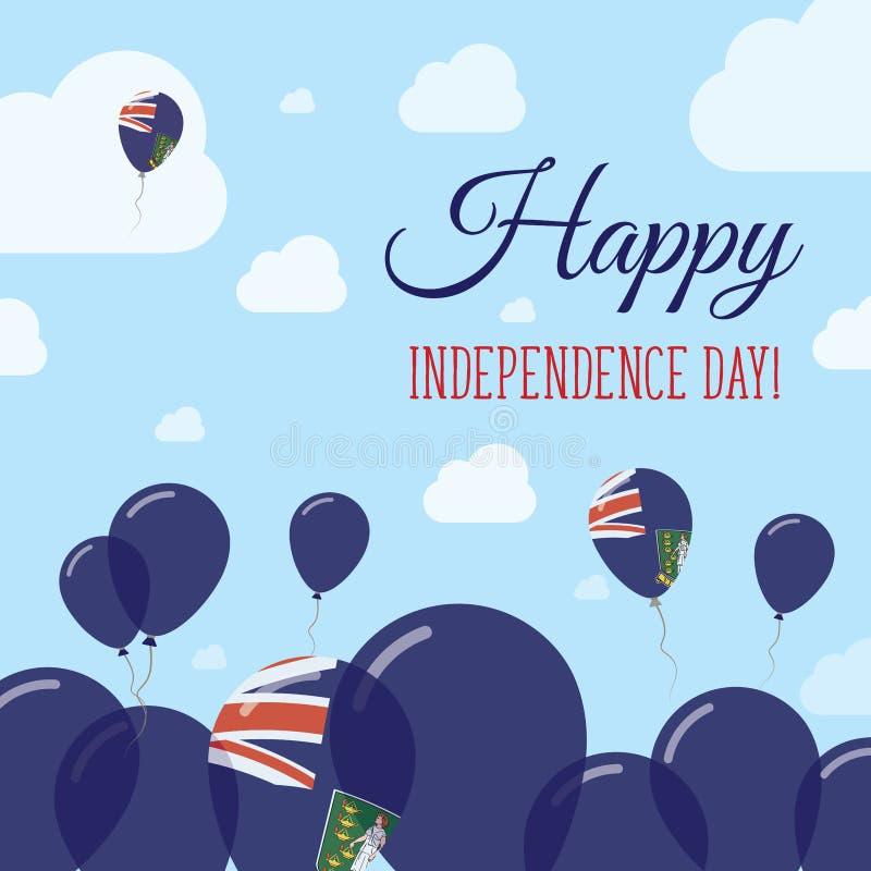 维尔京群岛,英国平的美国独立日 皇族释放例证