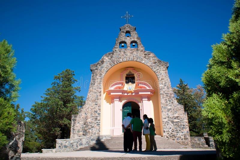维尔京de卢尔德de亚尔他Gracia Iglesia 免版税图库摄影