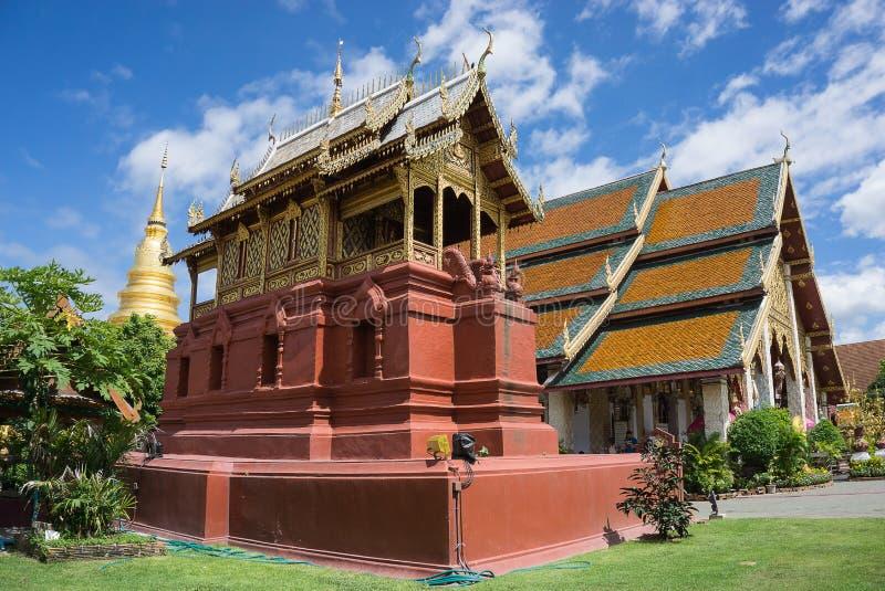 贺尔在Wat Phra Thad骇黎朋猜公众寺庙的胃建筑学 免版税库存照片
