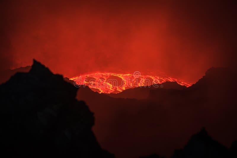 尔塔阿雷火山火山 免版税库存照片