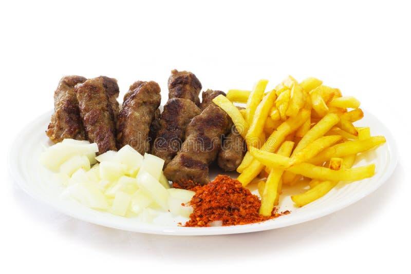 巴尔干的食物 免版税库存图片