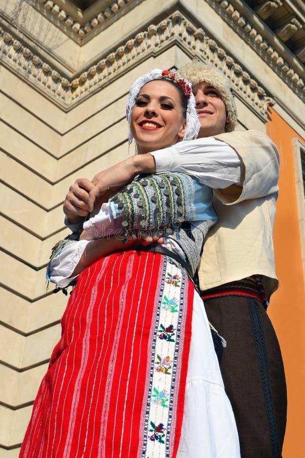 从贝尔格莱德的两位年轻人舞蹈家 免版税图库摄影