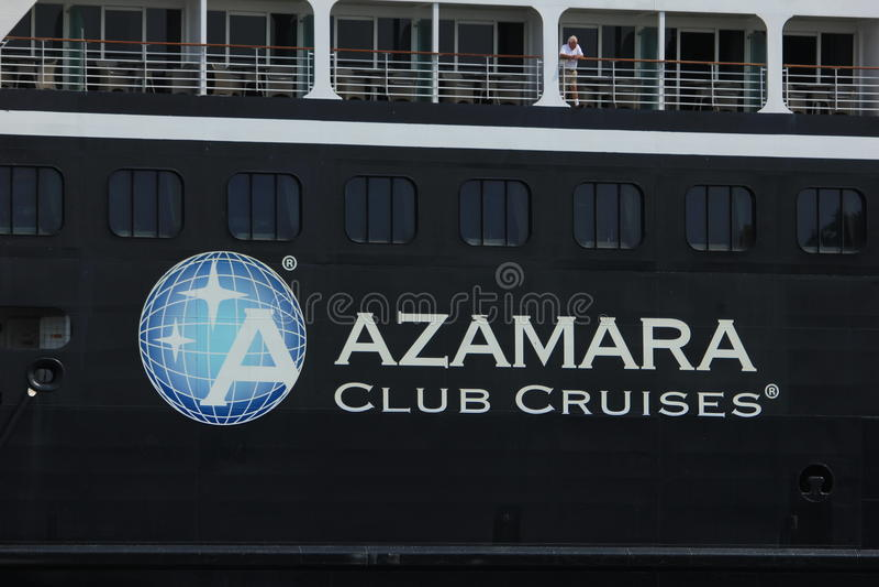费尔森,荷兰- 2017年6月20日:Azamara旅途- Azamara俱乐部巡航 库存照片