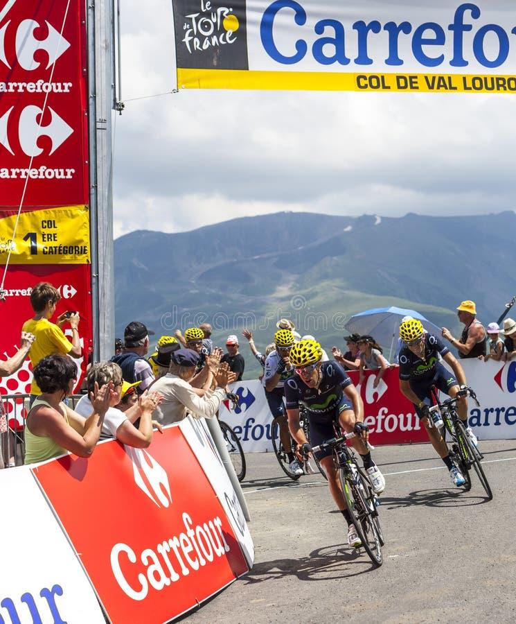 彻尔的de Val Louron Azet骑自行车者 编辑类图片