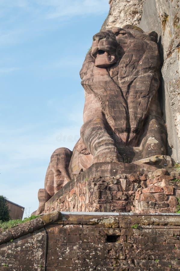 贝尔福雕塑狮子Bartholdi在法国 免版税库存照片