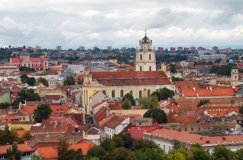 维尔纽斯立陶宛。 免版税库存照片