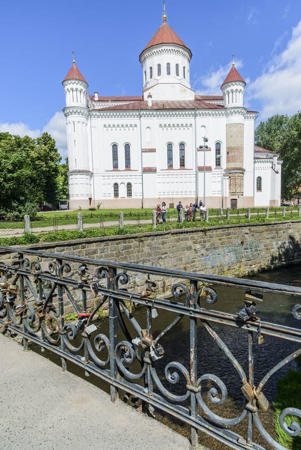 维尔纽斯,立陶宛,欧洲,正统大教堂 库存图片