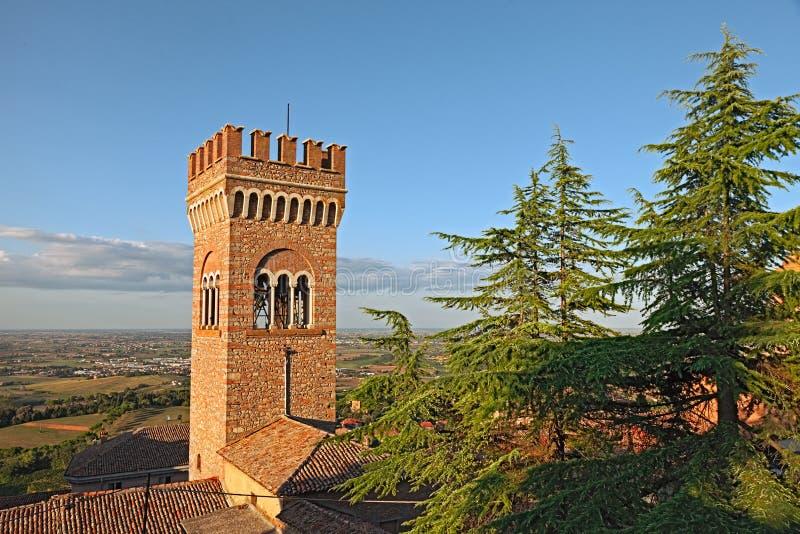 贝尔蒂诺罗,伊米莉亚罗马甘,意大利风景  库存照片