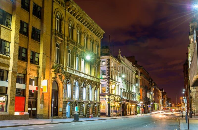 戴尔街,一条街道在利物浦的商业中心 免版税库存照片