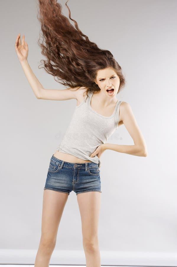 尖叫方式的女孩 免版税图库摄影